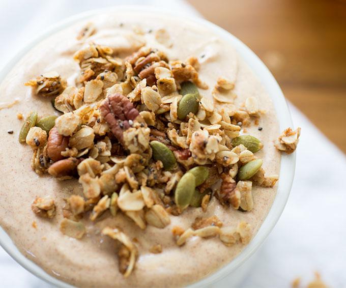 Pumpkin Yogurt with Spiced Granola