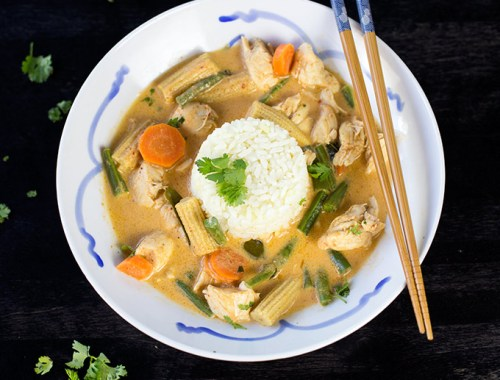 Thai Phanang Curry is a traditional Thai dish that combines fresh vegetables, spices and Phanang curry paste to create a delicious and flavorful meal.