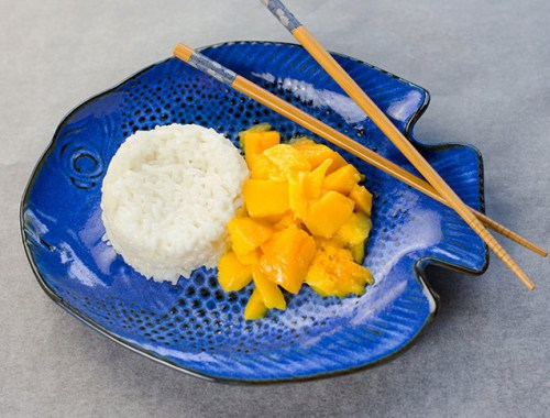 Coconut Sticky Rice with Fresh Mango is a traditional Thai dish combining coconut milk, sticky rice and fresh mangos for a creamy and refreshing treat!