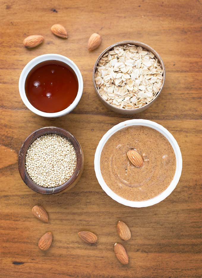 Chocolate Quinoa Energy Bites - almond butter, oats, quinoa, honey and protein powder packed into a healthy energy bite for a quick and easy snack!