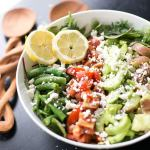 Spring Salad with Cilantro Vinaigrette