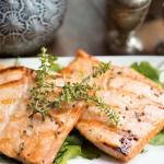 Grilled Maple-Mustard Salmon