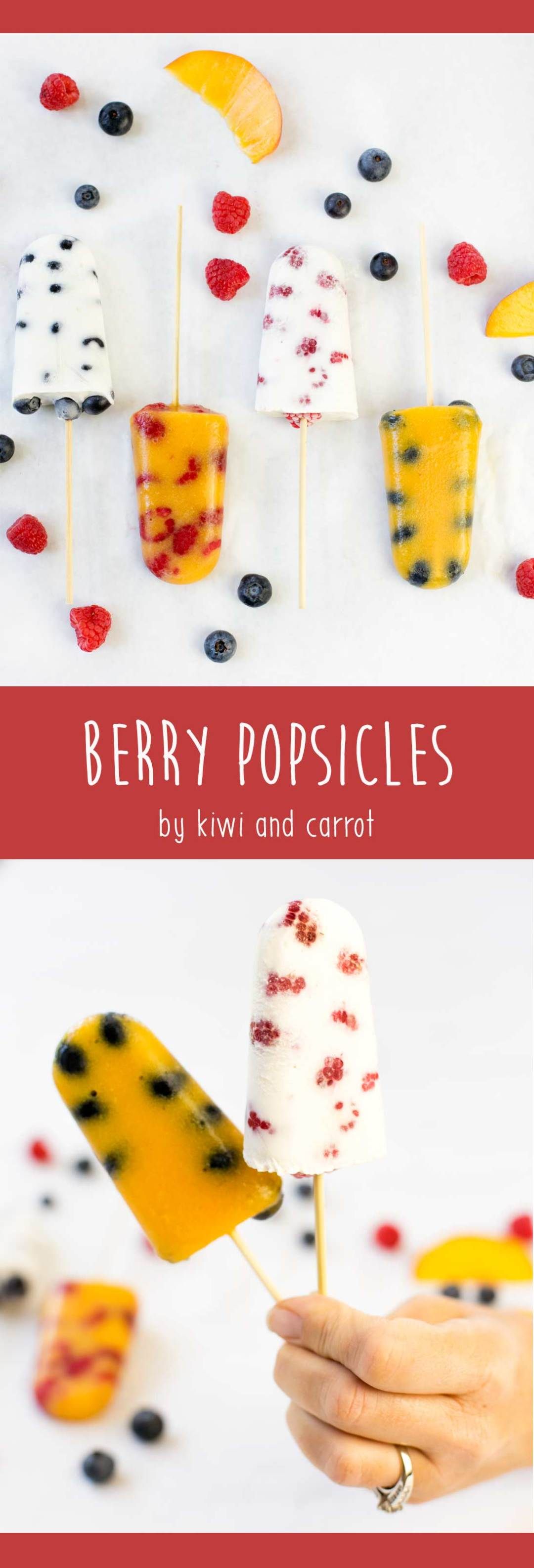 The perfect cure for that mid-summer heat wave...Berry Popsicles are made with just a few fresh ingredients but pack a big punch of fruity delicious flavor!