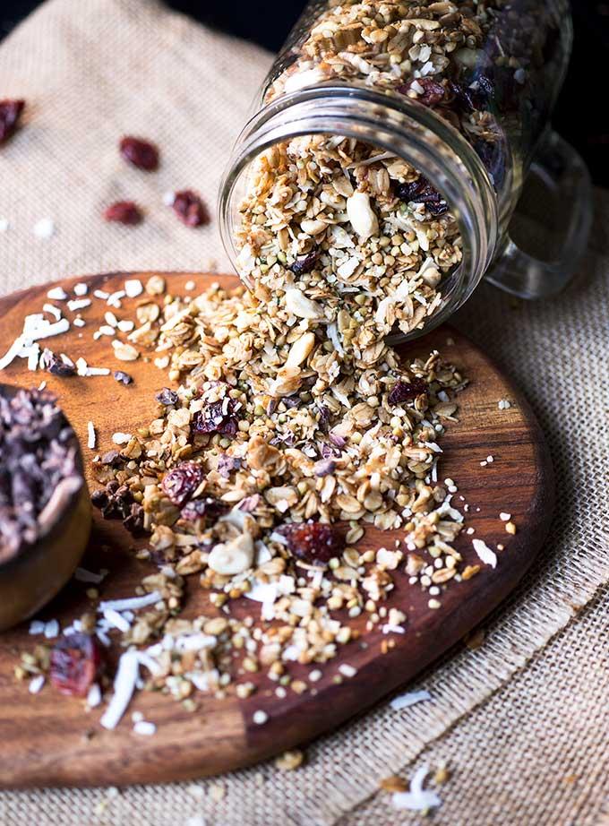 Cranberry Cashew Buckwheat Granola