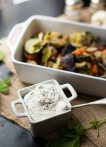 Roasted Veggies with Creamy Goat Cheese Dip
