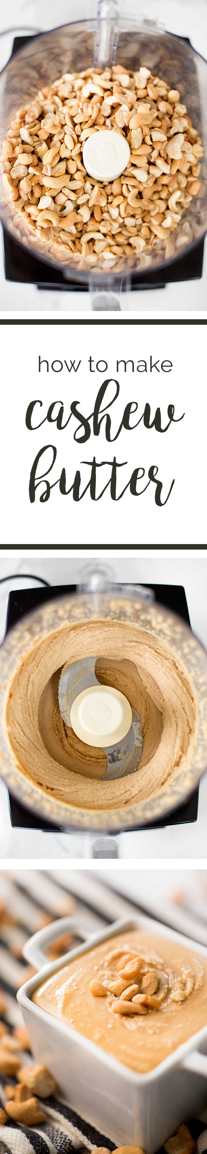 How to Make Cashew Butter: Combine cashews with a taste of maple syrup, salt and vanilla, and blend until smooth for a perfect peanut butter alternative.