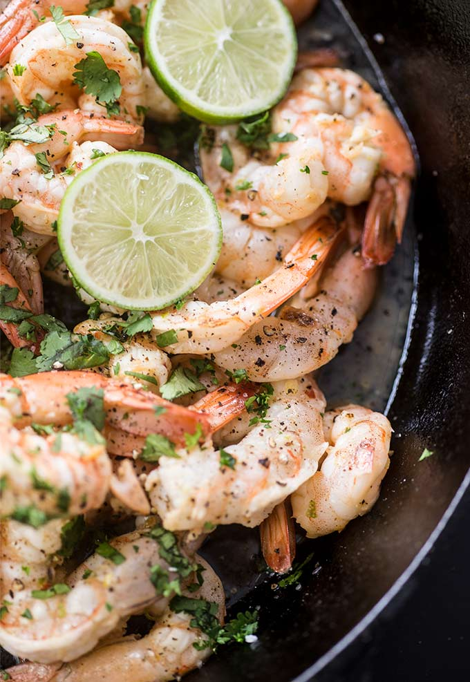 Honey Lime Shrimp: A zesty lime, honey and garlic marinade gives these shrimp a sweet and slightly spicy taste. Start to finish in a half hour means dinner is a breeze!