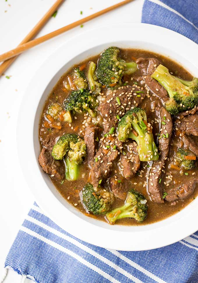 Instant Pot Beef and Broccoli - all the Asian flavors of Beef and Broccoli without the additives you get from takeout. This Beef and Broccoli recipe uses the instant pot to get tender, juicy meat with lots of flavor!