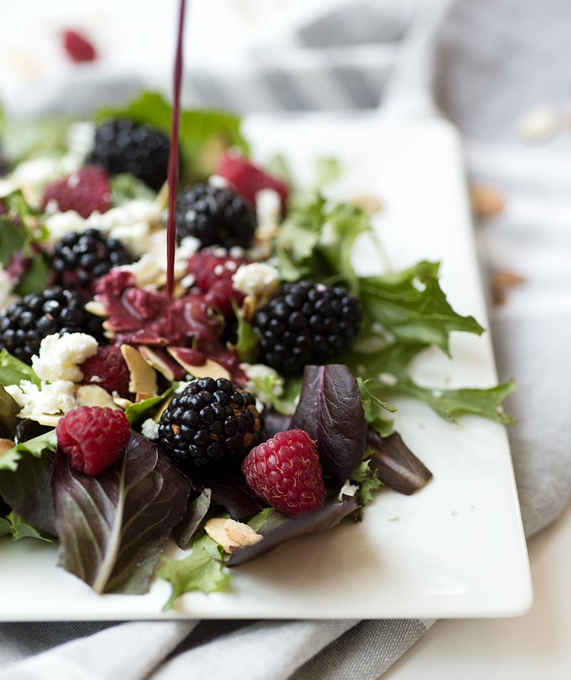 Blackberry Vinaigrette: The unique combination of blackberries, balsamic vinegar and honey makes this a quick and creative salad dressing and marinade.