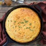 Bacon and Cheddar Skillet Cornbread