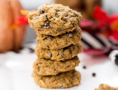 The Best Pumpkin Chocolate Chip Cookies: The combination of pumpkin, whole wheat flour, oats and dark chocolate create the perfect pumpkin cookie!