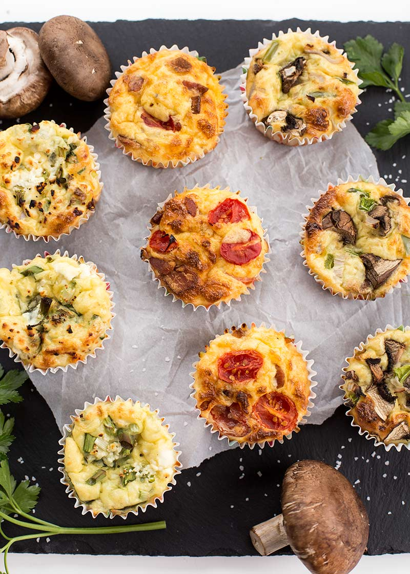 Freezer Omelette Muffin Cups: Omelettes baked in muffin tins and frozen for the perfect protein-packed, quick and easy breakfast!