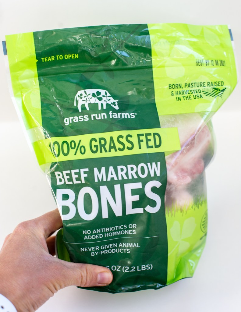 Instant Pot Bone Broth - nutrient-dense broth made from beef and chicken bones, veggies and herbs. Made in the instant pot, quick and easy.