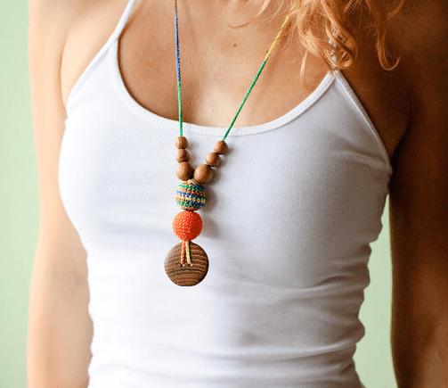 crochet baby teething necklace