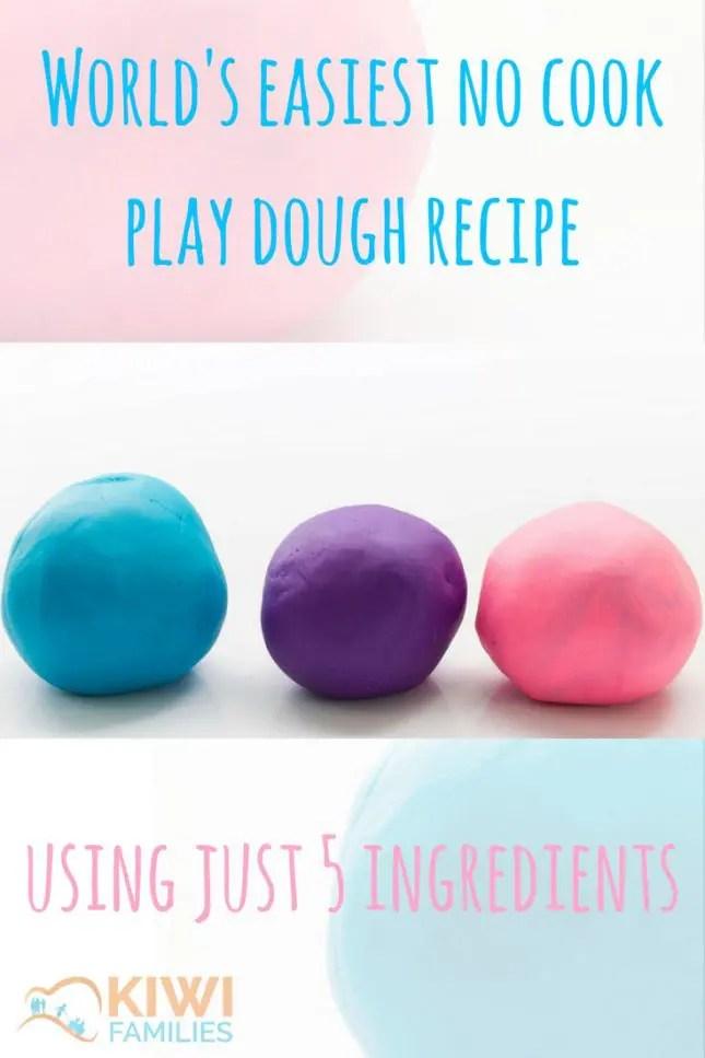 Easiest no cook play dough recipe
