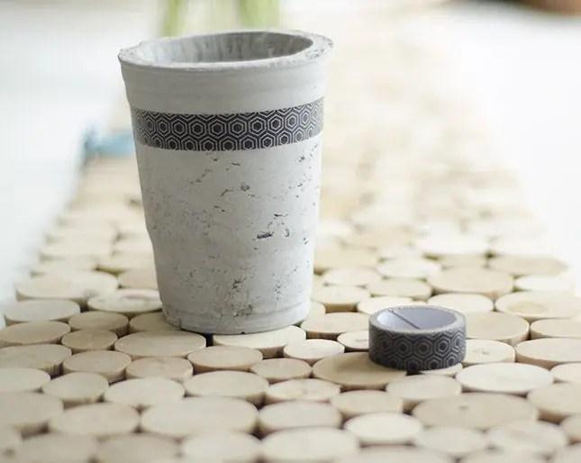 How to tape off a concrete planter