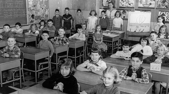 New Zealand Classroom in the 50s