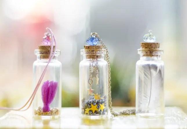 DIY bottle necklaces