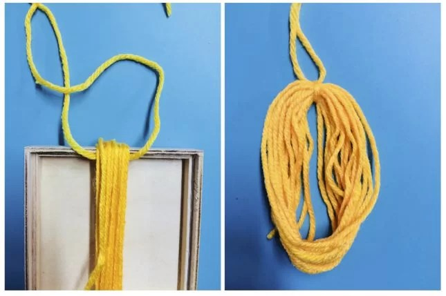 boho driftwood wall hanging wool