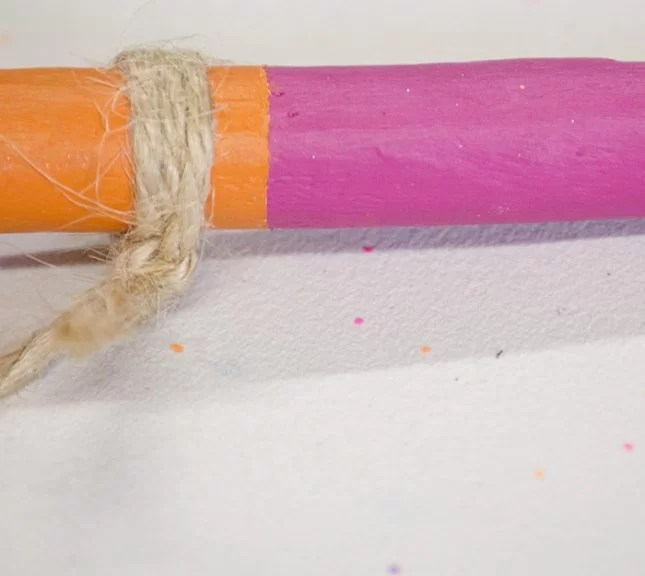 boho wood and string