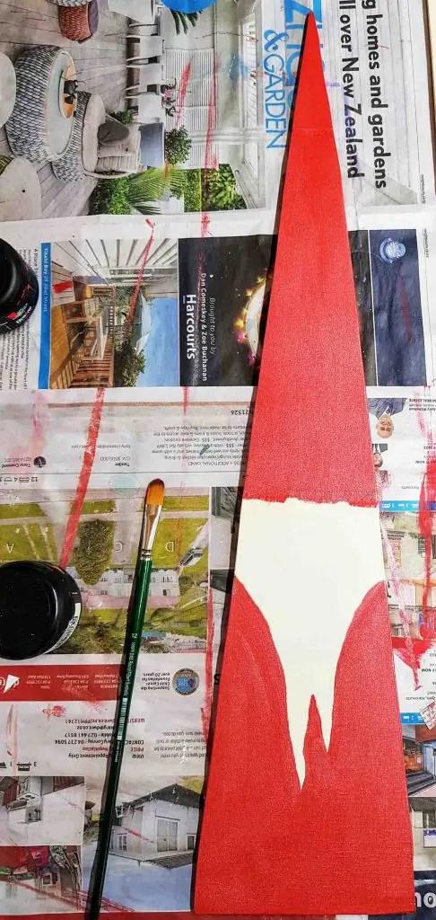 Candy cane wooden Santa resene glitterbug