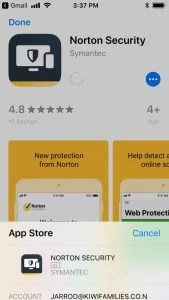Norton Security Premium-App store