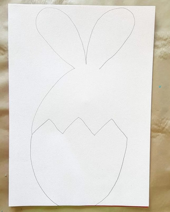 How to Draw an Easter Bunny in an Egg 6
