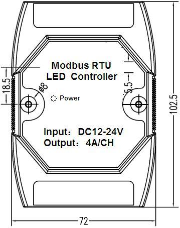 Modbus RTU LED Controller RS485 Communication 3 Channel 4A