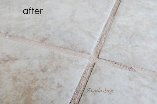 cleaning tile and grout