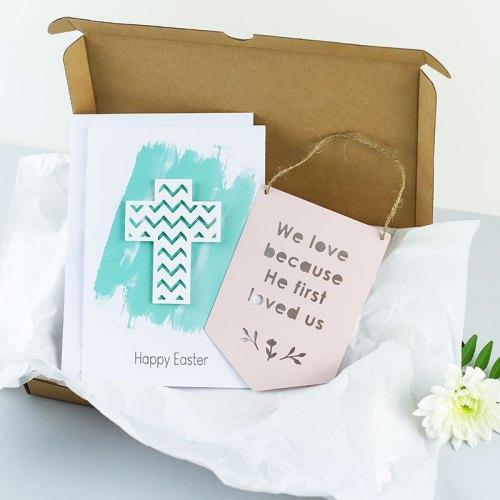 Easter card and Mini flag Gift set