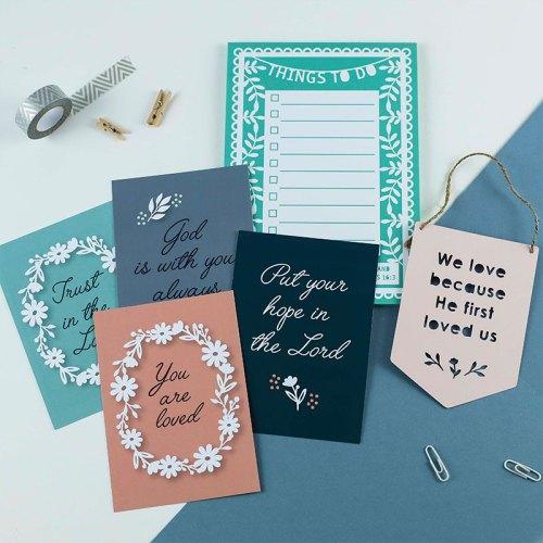 Bible verse notepad gift set