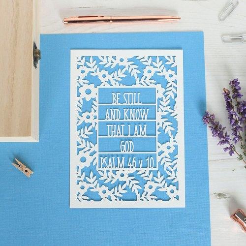 Floral Be Still Paper Cut