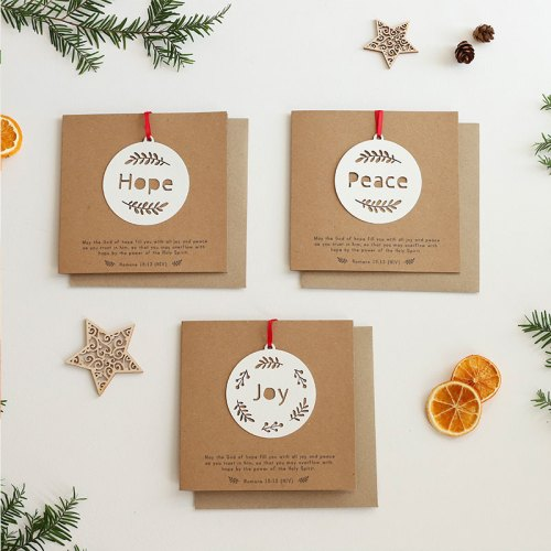 Hanging papercut decoration card (SET OF 3)