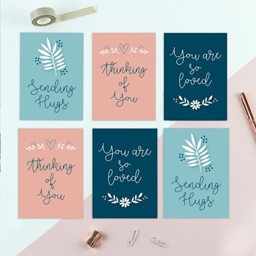 Sending hugs postcard set (SET of 6)