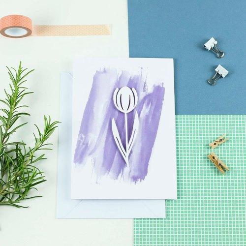 3D Tulip card