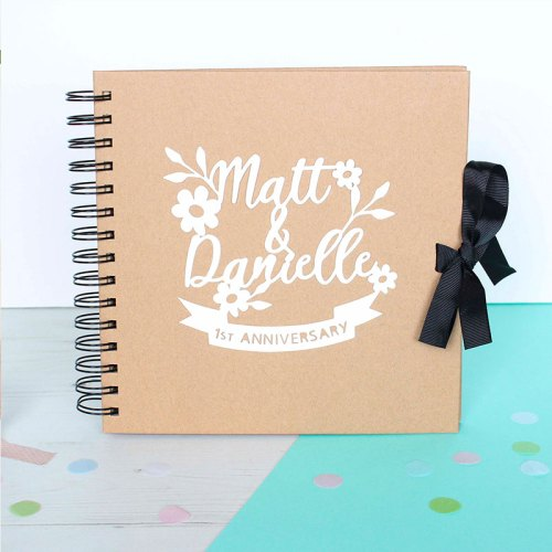 Personalised Couple's Floral Anniversary Scrapbook