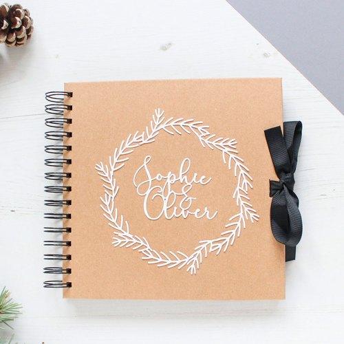 Personalised Couple's Winter Wreath Scrapbook
