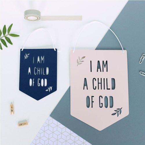 I am a child of God Papercut Flag