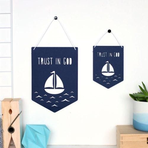 Trust in God Papercut Flag