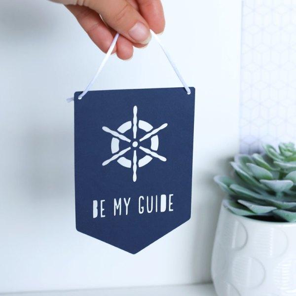 Be my guide papercut flag