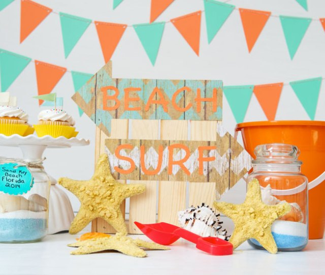 Beachy Craft Ideas For A Kids Beach Themed Craft Party