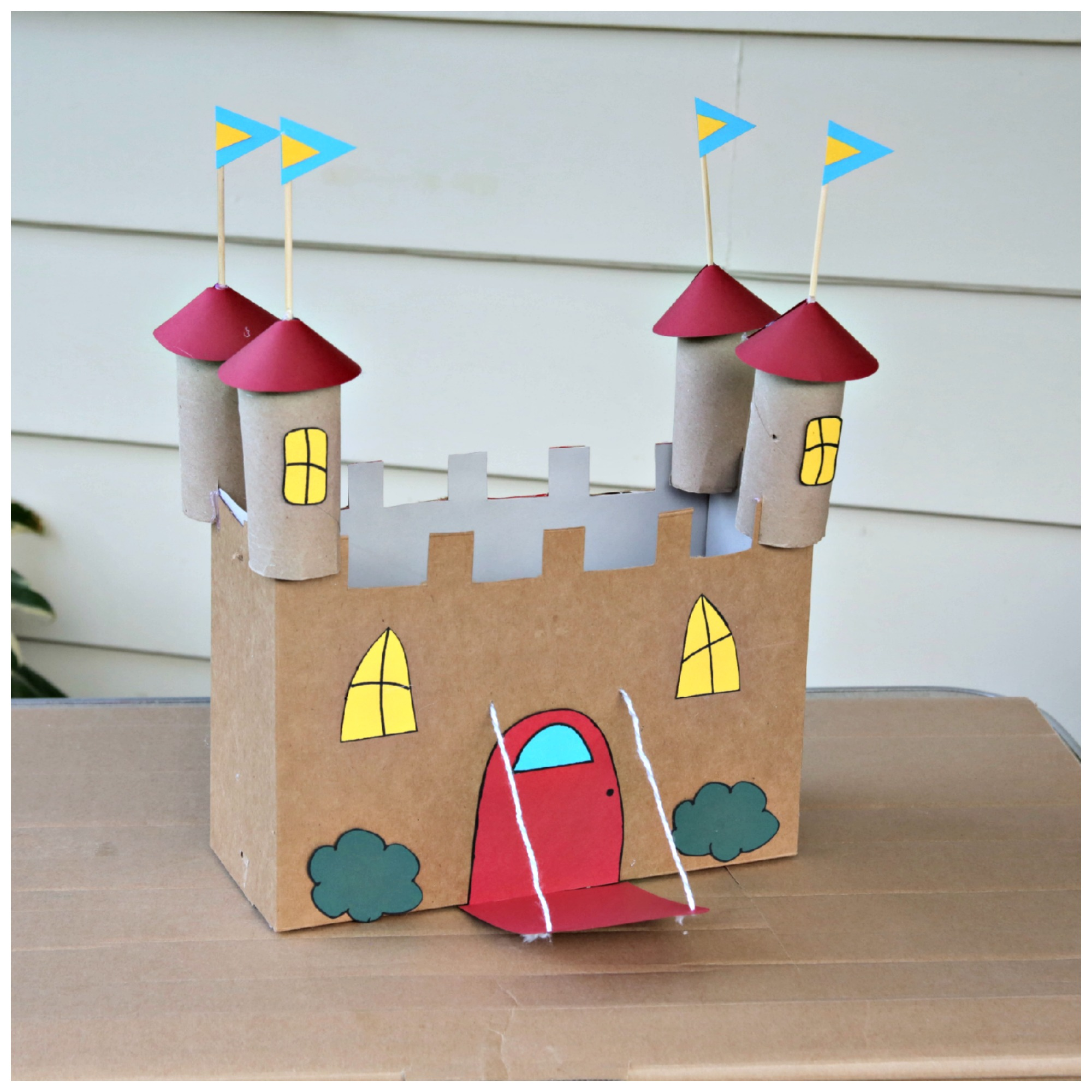 Recycled Cardboard Castle Craft Kix Cereal