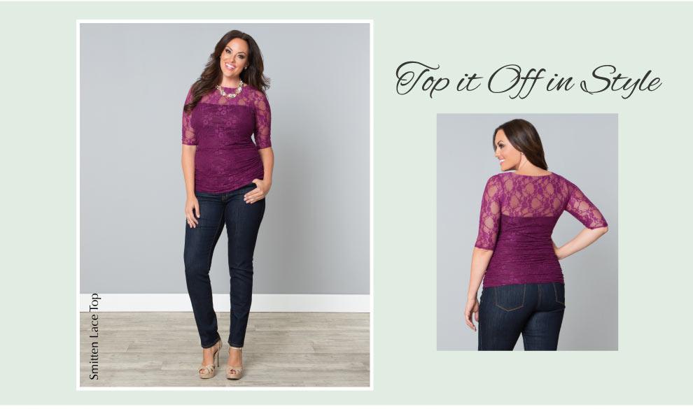 Plus Size Lace Tops | Smitten Lace Top