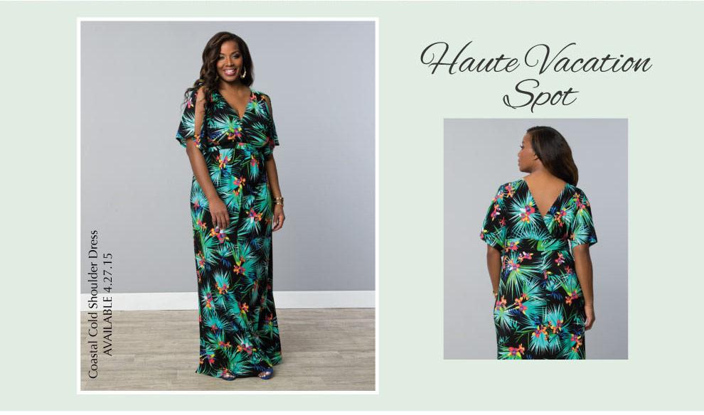 Plus Size Maxi Dress | Coastal Cold Shoulder Dress