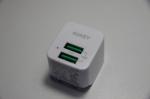 AUKEY USB充電器 ACアダプター 2ポート 超小型 折りたたみ式