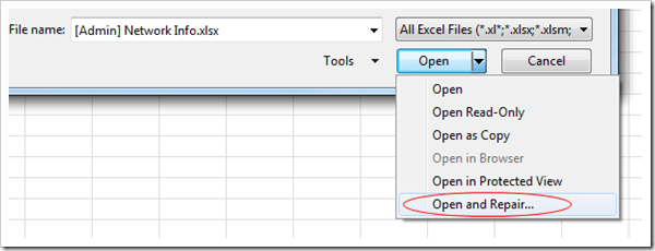 How to repair a corrupted Excel spreadsheet | KC's Blog