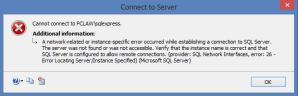kjc SQL connection error - kjc-SQL connection error