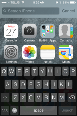 iOS 7 Spotlight Search 250x375 - iOS 7 Tip #6: Where is Spotlight Search and How To Access It?