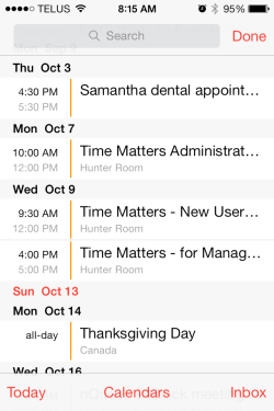 iOS 7 Calendar in List View