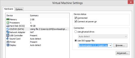 VMware VM setup - VMware VM setup